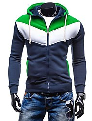Men's Long Sleeve Hoodie & Sweatshirt , Cotton/Polyester