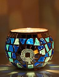 European Style Retro Blue Candle Holder