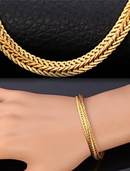 Fancy New Wheat Chain Bracelet 18K Chunky Gold Plated Vintage Bangle for Men Women with 18K Stamp High Quality