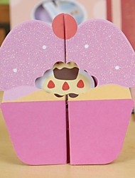 Cartoon Stereo Mini Birthday Card(10.5*10.5CM)
