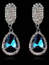 Earring Drop Earrings Jewelry Women Alloy / Cubic Zirconia / Rhinestone 2pcs White / Blue