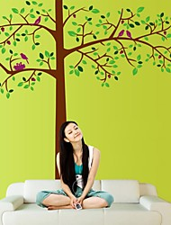 Wall Stickers Wall Decals, Natural Big Tree PVC Wall Stickers