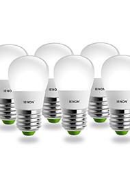 IENON® 6pcs S14 E27 3W 240-270LM 6000K Cool White Light  Pear Shaped LED Ceramic Blub(AC100-240V)