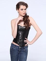 sexy pu Overbust espartilho shapewear das mulheres