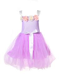 flores de las niñas vestidos de bebé cinturón de hilo