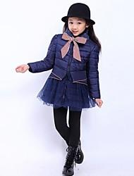 Mode für Mädchen süß Mesh passenden langen Mantel