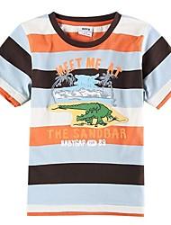 Children's Boy T shirt Summer Boy's Stripes T shirt Boys Tees(Random Printed)