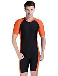 homens multi-color esporte proteção solar nylon mergulho wetsuit swimwear