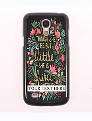 Personalized Phone Case - Flower And Leaf Design Metal Case for Samsung Galaxy S4