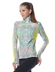 Yokaland Body Shaper Sporting Yoga Jacket Premium Stretchy Slim Fit with Paisley Print Sports Wear