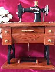 Sewing Machine Shaped Hand-cranking Music Box