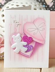 herzförmige Schachtel Mini-Dankeschön-Karte Geschenkkarte