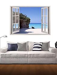 3d наклейки для стен наклейки на стены, пляжный риф декора наклейки виниловые
