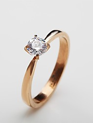 Women's Rose Gold Plated Ring Rhinestone Rose Gold Plated