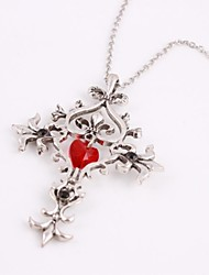 Fashion The Vampire Diaries Cross Pandent Silver Alloy Movie Pendant Necklace(1 Pc)