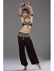 Belly Dance Performance Tribal Style Conches Outfits Top,Belt and Pants