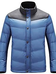 le nouveau col blanc duvet d'eider manteau veste d'hiver masculine des hommes
