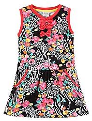 Girl's Black Dress Cotton Spring / Fall
