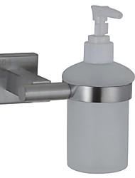 titulaire de distributeur de savon nickel contemporaine terminé paroi en acier inoxydable SUS304 monté accessoire de salle carrée