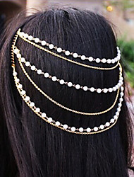 shixin® perle classique gland main bandeau d'or (1 pc)