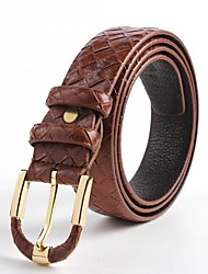 Lanhu Men'S Fashion Casual All Match  Leather Belt