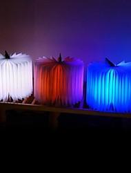 formato de livro noite conduziu a lâmpada de luz