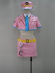 Inspired by Super Sonico Sonico Video Game Cosplay Costumes Cosplay Suits Patchwork Pink Short SleeveCoat / Skirt / Tie / More