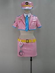 Inspiriert von Super Sonico Sonico Video Spiel Cosplay Kostüme Cosplay Kostüme Patchwork Rosa Kurze ÄrmelMantel / Rock / Krawatte / Mehre