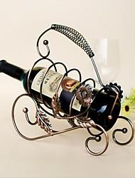 Vintage-Design Stahlsonnenblumenweinregal Halter bar Flaschenablage bardekor Display zufällige Farbe