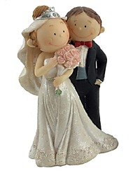 Cake Toppers Q Version of The Bride And Groom Figurines