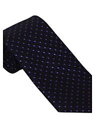 Black&Purple Dots Tie