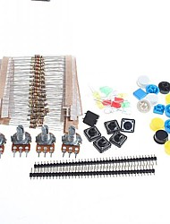 Universal Carbon Resisters + Rotary Potentiometers Parts Set for Arduino