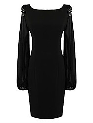 Belt Women's Long Sleeve Dress