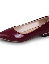 Women's Spring / Summer / Fall Pointed Toe Patent Leather Casual Flat Heel Black / Green / Burgundy
