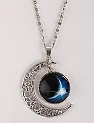 Frauen-Galaxie Sterne Mond Zeit Edelstein Halskette