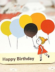 Play With The Balloon Girl Mini Birthday Blessing Card (7.5*7.5cm)