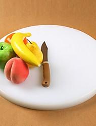 circulares tábua de cortar plástico engrossado anti-skid, de plástico 38 × 38 × 2,7 centímetros (15 × 15 × 1,1 polegadas)