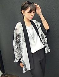 romântico floral print protetor solar jaqueta quimono outerwear das mulheres