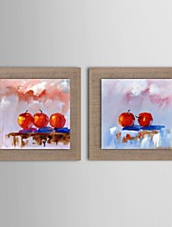 Oil Painting Modern  Abstract Still Life Set of 2 Hand Painted Natural linen with Stretched Frame