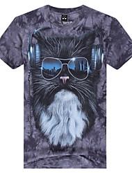 heren ronde hals zomer mol dier 3d gedrukte korte mouw t-shirt