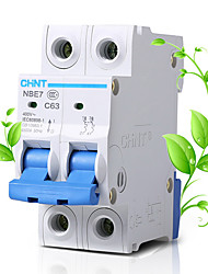 CHNT 2P63A 400V RCCB Residual Current Circuit Breaker Magnetic Blast Breaker Earth Leakage Protection