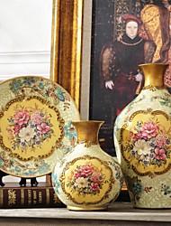 trois pièces cadeaux classiques de nouveauté mobilier de l'artisanat en céramique de la mode