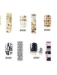 14pcs belle no.37-41 style cartoon Stricker nail art de la série D (modèle assortis)