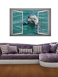 Adesivos de parede adesivos de parede 3d, parede golfinho decoração adesivos de vinil