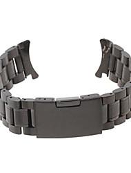 Men Women 20mm Black Steel Watch Band Strap Bracelet High Quality