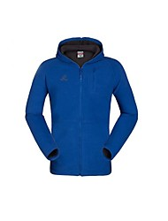 Outdoors Men's Polyester Blue Orange and Dark Blue Colors Hooded Camping Hiking Fleece Jackets