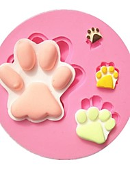 Cartoon Big Foot Paw Footprint Fondant Cake Molds Chocolate Mold Soap Mould For The Kitchen Baking