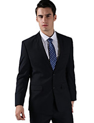 forro polar azul marino oscuro adaptado ajuste traje de dos piezas