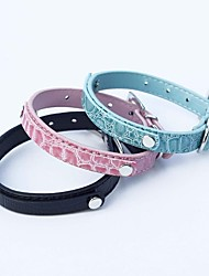 Cat / Dog Collar Adjustable/Retractable / Cosplay Black / Blue / Pink PU Leather