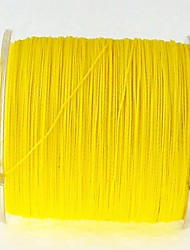 300M / 330 Yards Linha Traçada PE / Dyneema Linhas de Pesca Sável Amarelo 60LB / 80LB / 70LB 0.37mm,0.40mm,0.45mm mm ParaPesca de Mar /
